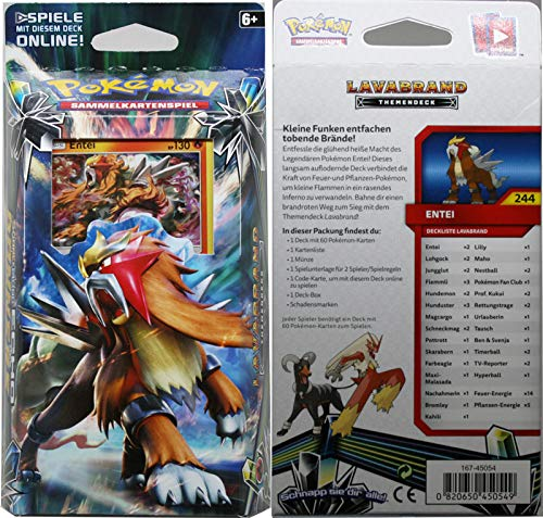 Unbekannt Sonne & Mond Serie 8 - Echo des Donners - 1 Themendeck Lavabrand - Deutsch (Pokemon Ex Deck Karten 60)