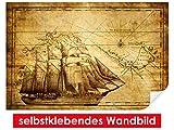 selbstklebendes Wandbild Vintage Sailing – leicht zu verkleben – Wallprint, Wallpaper, Poster, Vinylfolie mit Punktkleber für Wände, Türen, Möbel und alle glatten Oberflächen von Trendwände