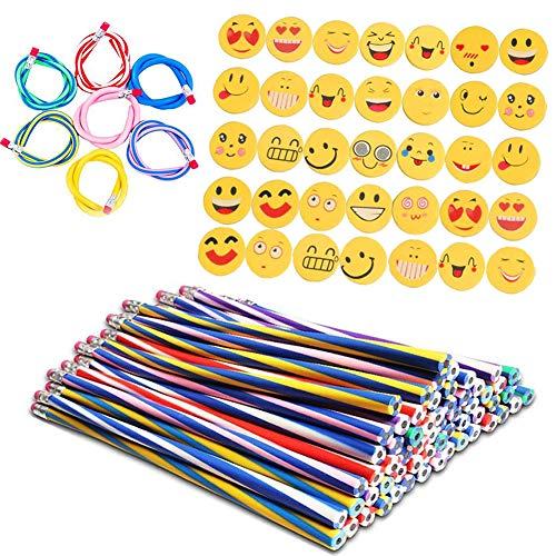 36 pezzi Matita Flessibile Morbide e 36 pezzi Emoji Goe Regali Divertenti per i Riempitivi del Sacchetto del Partito dei Bambini