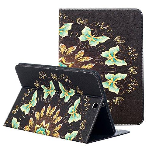 Samsung Galaxy Tab S2sm-t813Fall 9,7, zaox Slim Colorful Leder Ständer Tasche Case Card Slots Flip Folio Wallet Cover für Samsung Galaxy Tab S224,6cm Tablet sm-t815/T810/T813, grün