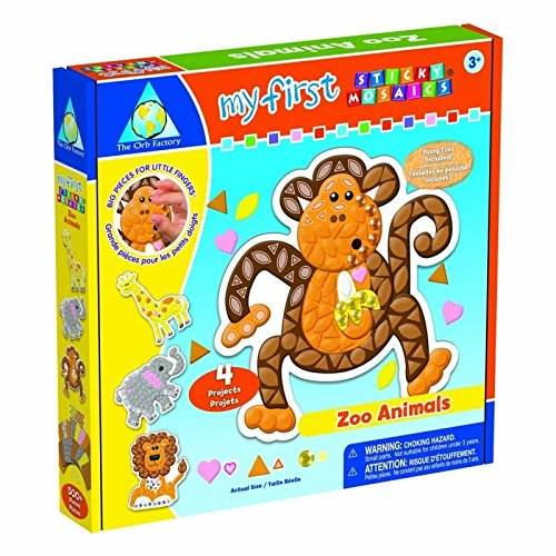 Orb Factory Foam My First Sticky Mosaics Kit Zoo Animals