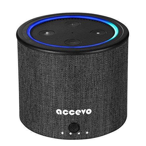 Echo Dot 2 Akku, 10000mAh Battery Base Portable Akku für Echo Dot 2 Generation und Android Geräte (Nur Battery Batteriebasis)