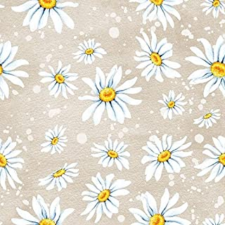 Ambiente 3-Ply Printed Paper, Tissue Napkins - Daisies Stone, Pack of 20 33 x 33cm