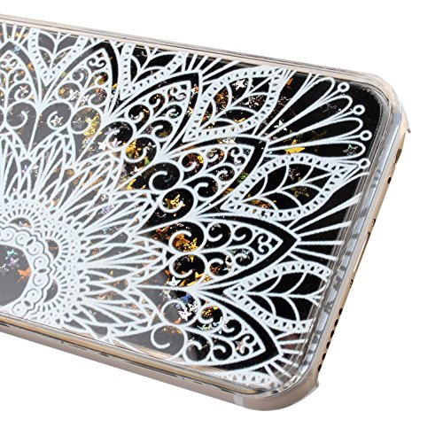 iPhone 6S Hülle Silicone,iPhone 6S Hülle Glitzer,iPhone 6 Hülle Rosa,EMAXELERS iPhone 6S Plating Gold TPU Bumper Case Soft Silikon Gel Schutzhülle Hülle für iPhone 6 4,7 Zoll,iPhone 6S Hülle Glitzer D D Black Liquid 9