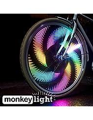 Monkey Light M232 Fahrrad Licht - 32 Vollfarbige, Ultrahelle LEDs - Wasserfeste - 42 Themen mit Hunderten Kombinationsmöglichkeiten