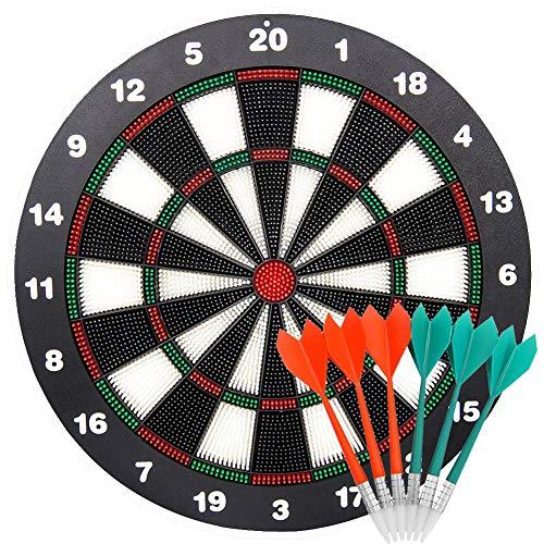limiwulw veiligheid dartboard voor kinderen-16-inch-rubber dartboard set met 6Soft dart sicherheitsabnähe