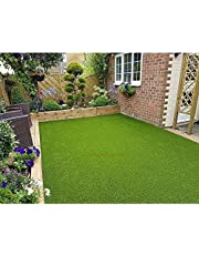 Eurotex Artificial Grass Carpet Mat for Covering Balcony, Lawn, Door (PE & PP, Size Feet, 25mm 4-Tone Green Color)