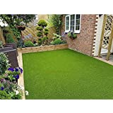 Eurotex Artificial Grass Carpet Mat for Covering Balcony, Lawn, Door (PE & PP, Size 4x10 Feet, 25mm 4-Tone Green Color)