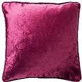 McAlister Textiles Luxury Kollektion | Glänzender Samt Extragroßer Kissenbezug | 60cm x 60cm in Fuchsia Pink | Deko Kissenhülle für Sofa, Couch, Sessel, Kissen in luxuriösem Designer Plüsch