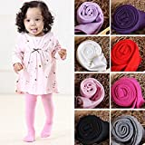 Newborn Toddler Baby Girl Solid Color Pantyhose Leggings Tights Stockings Pants