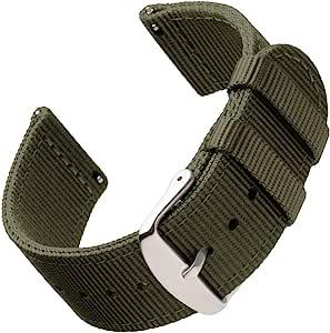 Archer Watch Straps | Premium Cinturino di Nylon Ricambio Sgancio Rapido Cinghia Orologio per Donne e Uomini, Orologi e Smartwatch | Colori Assortiti, 18mm, 20mm, 22mm