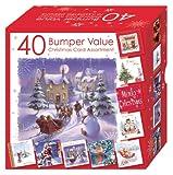 Weihnachtskarten-Set, 10 verschiedene Motive, 40 Stück
