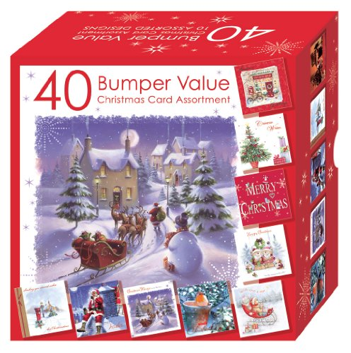 Club Lot de 40 cartes de Noël 10 motifs