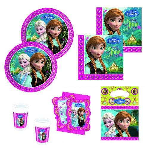 Frozen Partygeschirr Party Set Servietten Becher Teller Einladungskarten Partytüten Kindergeburtstag Deko