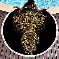 ISAAC ENGLAND Toalla de Playa Redonda de Verano Toalla de baño de Microfibra Grande para Adultos