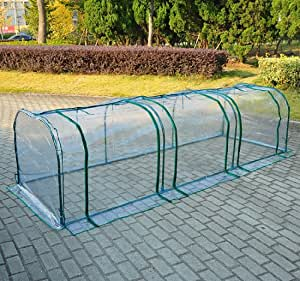 serre de jardin tunnel tente b che pvc transparent tube en acier 3x1x0 8m neuf 76 jardin. Black Bedroom Furniture Sets. Home Design Ideas