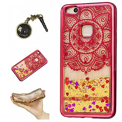Preisvergleich Produktbild Laoke für Huawei P10 Lite Hülle Schutzhülle Handy TPU Silikon Hülle Case Cover Durchsichtig Gel Tasche Bumper ( + Stöpsel Staubschutz) (8)