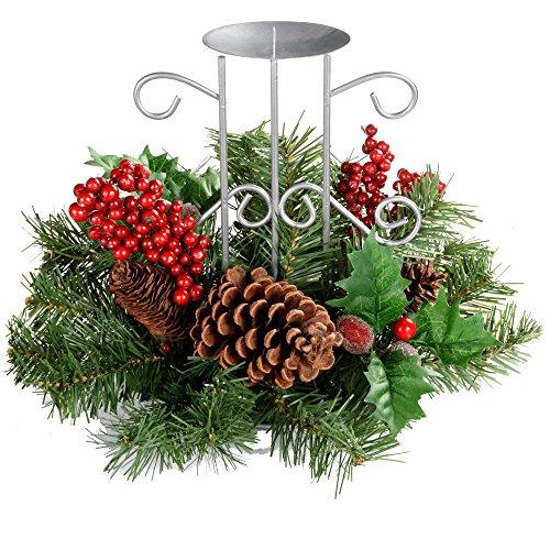 WeRChristmas - Centro de Mesa navideño (22 cm, con piñas Naturales ...