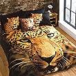 Grace Leopard Animal Print Gold Black King Duvet Cover Quilt Set Hallways �