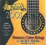 La Bella 2001 - Juego de cuerdas para guitarra flamenca (nailon negro plateado, light)