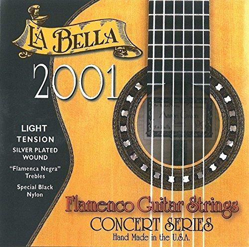 La Bella 653836 Corde per Chitarra Classica Professional Studio, 2001 Flamenco, Light