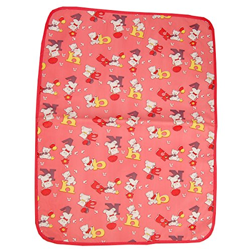 Gurukripa New Born Baby Bed Protector Waterproof Multipurpose Changing Mat Plastic Sheets Baby Changer Sheet Cotton Foam Cushioned Sleeping Mat & Changing Mat Unisex, 0-9 Months, Pack of 1 (Red)  available at amazon for Rs.150