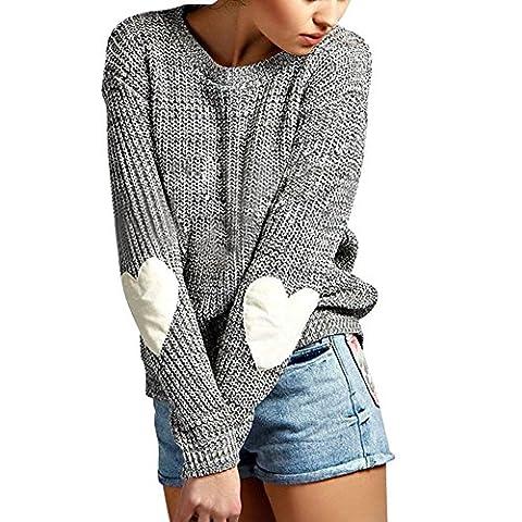 Eleery Damen einfabrig Pullover Winter warm Lose Casual Outwear Mantel