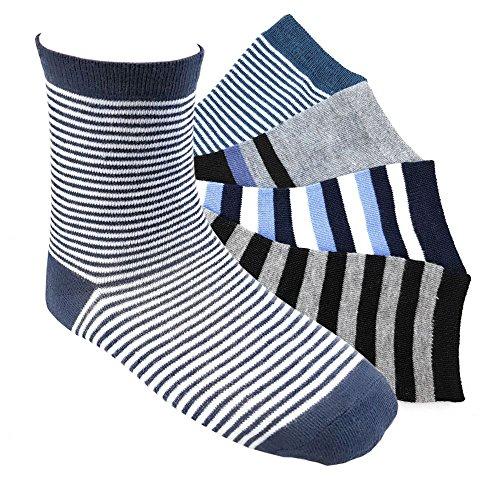 12 Paar Jungen Socken Kinder Strümpfe Kids Socks 90 % Baumwollsocken Gr. 31-34 verschiedene Farben und Motive (J01 31-34)