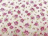 100% Baumwolle Popeline Stoff–wunderschöne pink rose