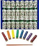 Ensemble de 8 Joyeux Noël Argent Notes musicales Craquelins par Crackers Ltd (Cat F1)