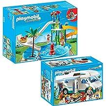 Playmobil 5433 for Playmobil 5433 famille avec piscine et plongeoir