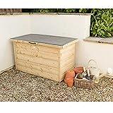 Forest store-plus Druck behandelt überfälzung Garten Aufbewahrungs Box, natur, 4x 2ft