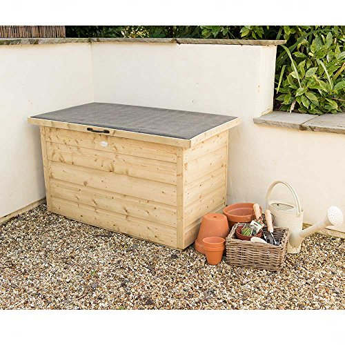 Forest Store-Plus Pressure Treated Shiplap Garden Storage Box, Natural, 4 x 2 ft Best Price and Cheapest