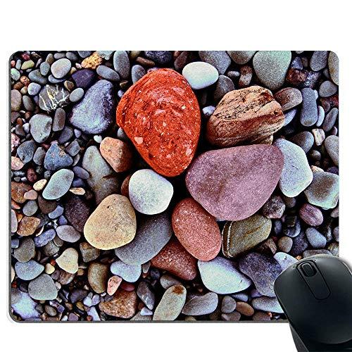 Gaming-Mauspad - rutschfeste Gummibasis - spezielles Textur-Gewebe - Kieselsteine
