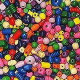 Holzperlen bunt gemischt, 1 kg ✓ Holz-Perlen-Mix-Bunt Perlenset/Perlenmix ca. 1-2 cm groß ✓ Schmuck-Perlen Loch ca. 4mm ✓ Kinderperlen ✓ bunte Fädelperlen Bastelperlen | trendmarkt24-2850