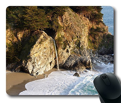 Gaming Mouse Pad Big Sur Julia Pfeiffer Burns State Park Oblong Shaped Mouse Mat Design Natural Eco Rubber Durable Computer Desk Stationery Accessories Mouse Pads For Gift Support Wired Wireless or Bluetooth Mouse