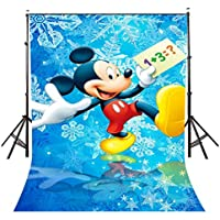 LYLYCTY 5x7ft Cute Mickey Mouse Backdrop Cute Mickey Mouse Disney Cartoon Photography Background and Studio Photography Backdrop Props LYNAN370