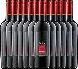 12er Paket - TANK No 32 Primitivo Appassimento 2016 - Cantine Minini | italienischer Rotwein | halbtrockener Wein aus Apulien | 12 x 0,75 Liter