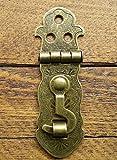 Lock Verschluss, näher Überfalle und Riegel, verschnörkelter c/w Schrauben bronzefarben (inkl. gratis Geschenk von Celtic Woods C071, Kalender)