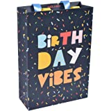 """Sapco Gift Paperbag Perfect for Gifting and Parties, Premium Thick Card""""Birthday Vibes"""" (9x13x3.5-Inch(Medium))"""
