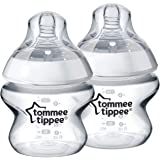 Tommee Tippee Closer to Nature Baby Bottle, Anti-Colic Valve, Breast-Like Nipple for Natural Latch, BPA-Free - Extra Slow Flo