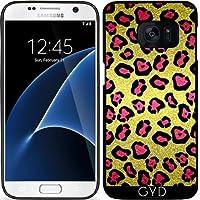 Custodia in silicone per Samsung Galaxy S7 (SM-G930) - Glitters Rosa, Modello Del Leopardo by Tees2go