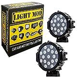 #10: 2pc. LightMod 51 Watt Bike Auxillary Fog Lamp Light Spot Light Bulb Offroad Motorcycle LED