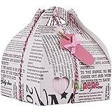 Minene Case - Caja de regalo, incluye body a rayas con aplique, pantalón, calcetines y corazoncito de tela
