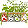 50 Washable Plastic Herb and Spice Jar Labels. Colourful, Attractive Pictures of 50 Herbs And Spices.