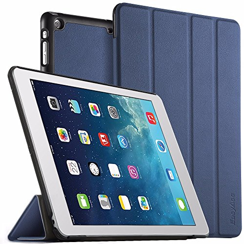 iPad Air Hülle, EasyAcc Ultra Slim iPad Air Hülle Case Cover Schutzhülle Bumper Lederhülle mit Standfunktion / Auto Sleep Wake up für iPad Air 2013 (Modellnummer A1474 A1475 A1476) - Dunkelblau, Ultra Slim