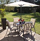 Hadleigh 4 Seater Steel Garden & Patio Outdoor Furniture Set by Hectare