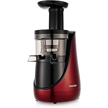 Hurom HN Series, 43 RPM Cold Press Slow Juicer (Dark Red/2 Jars)