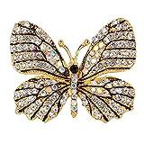 Gespout Elegante Moda Spilla Lady Spilla Accessori D'oro Corpetto Strass Farfalla Animale Gioielli Perno Regalo di Compleanno Adatto per le Donne