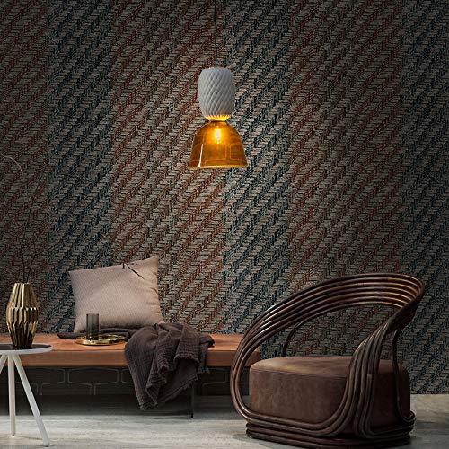 yhyxll Wohnzimmer Schlafzimmer Bekleidungsgeschäft Büro Tapete 3D Retro Stroh Tapete Tapete 1